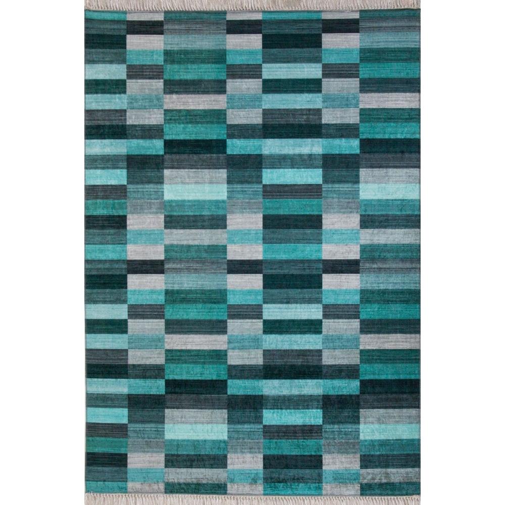 Mozaik Turkuaz Desen 4m2 Kaymaz Halı