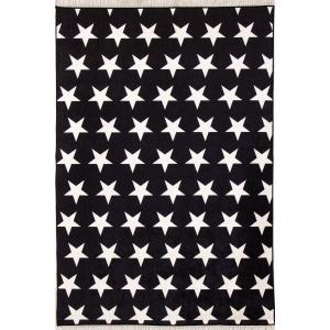 Yıldızlı Siyah 4m2 Kaymaz Halı