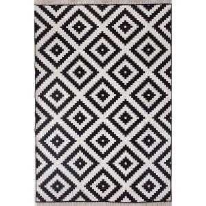 İkea Siyah Beyaz Desen 4m2 Kaymaz Halı