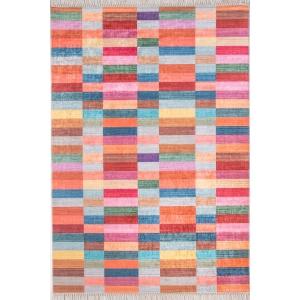 Mozaik Çok Renkli 4m2 Kaymaz Halı