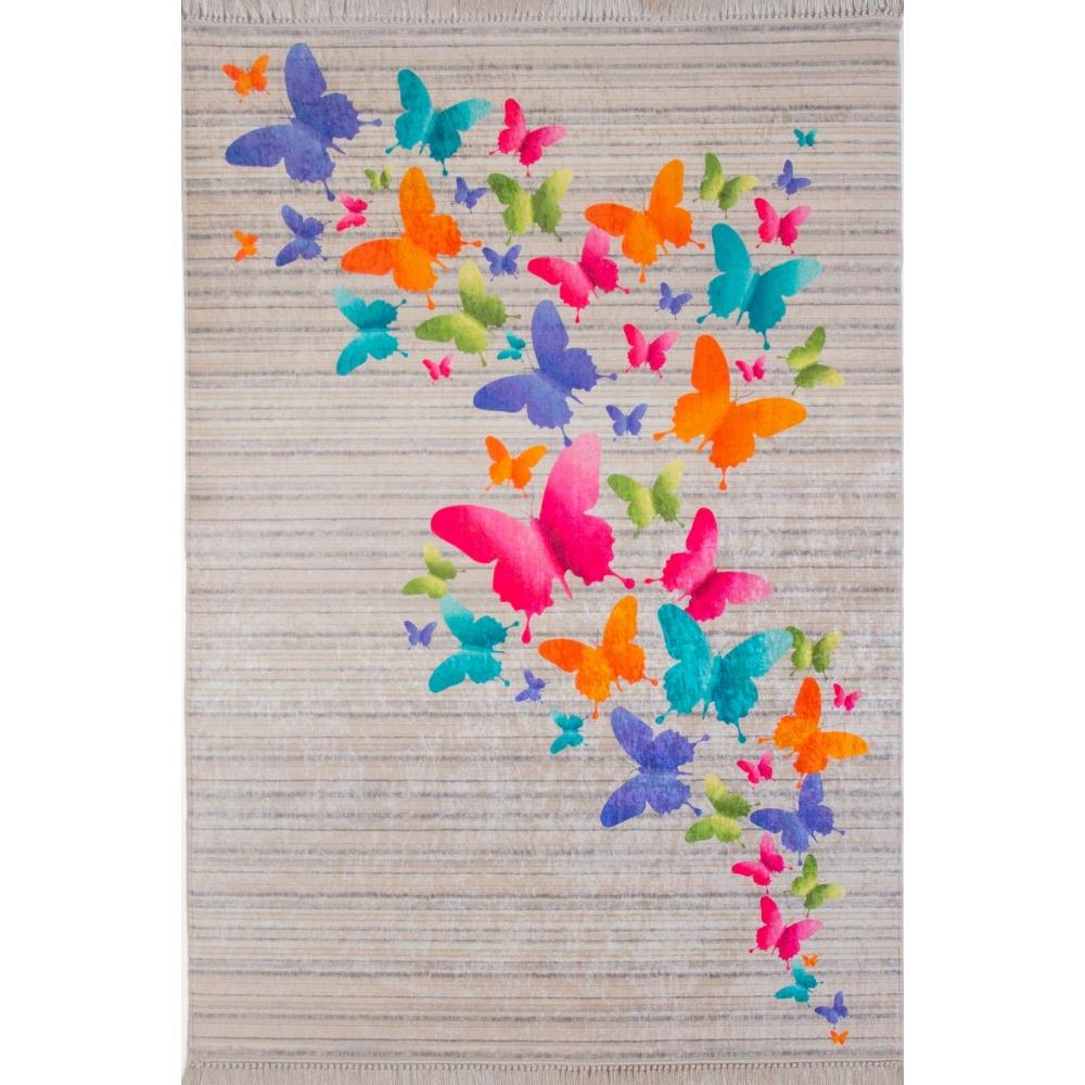 Kelebek Desenli 4m2 Kaymaz Halı