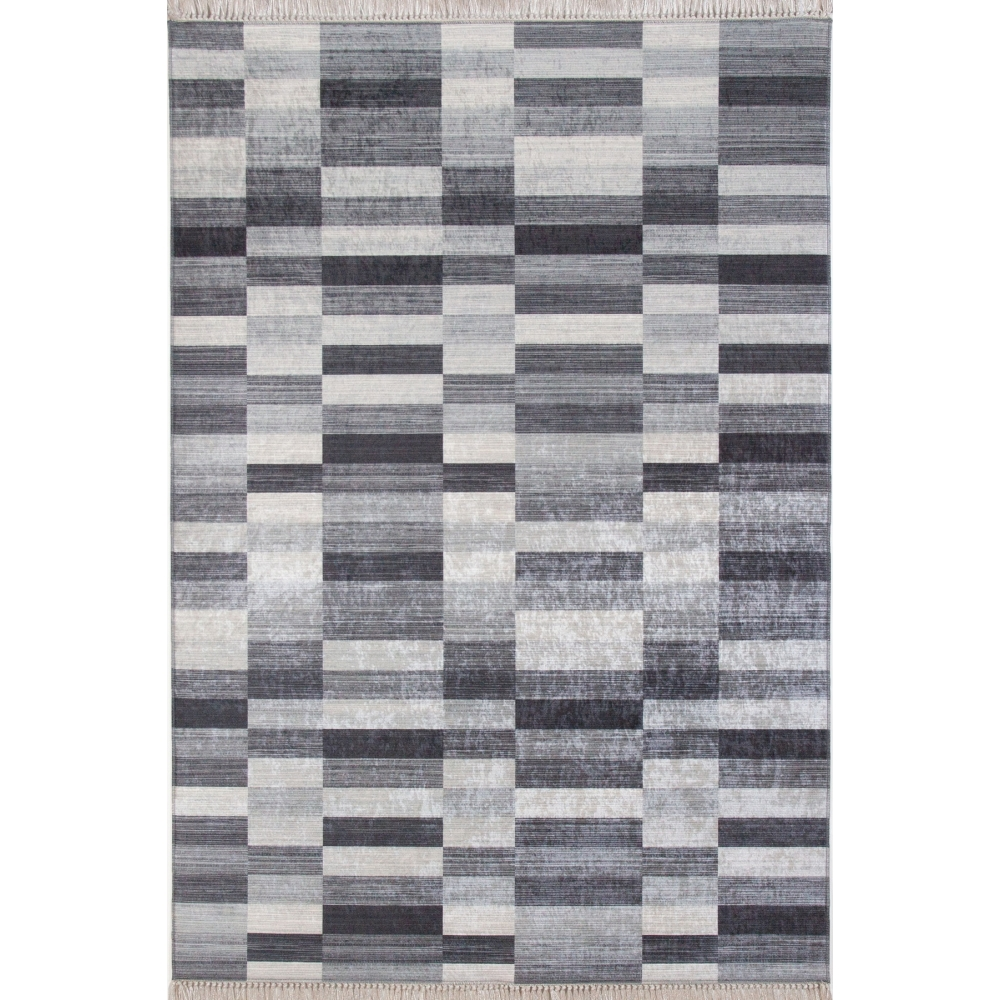 Mozaik Gri Desenli 4m2 Kaymaz Halı