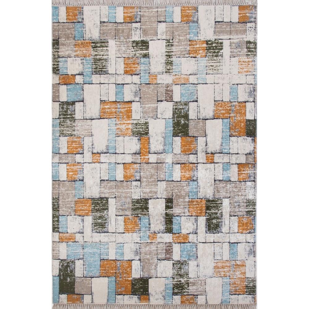 Taş Duvar Desenli 4m2 Kaymaz Halı
